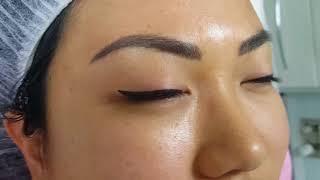 Healed Hairstroke with Shading Eyebrows over old PMU & Healed Cat Eyeliner PMU by El Truchan @ P