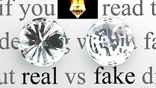 Horno A 1000 Grados Vs Diamante Real Y Diamante Falso