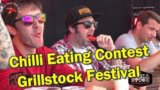 Saturday's Chilli Eating Contest at Grillstock Festival