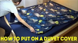How To Put On A Duvet Cover Quickly And Easy