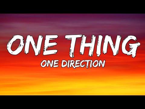 One Direction - One Thing (Lyrics)