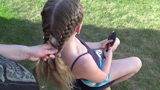 Две Простые Французские Косы Peinado Hairstyles French Braids