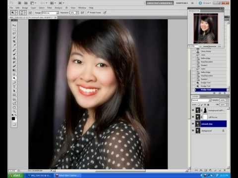 studio portrait retouch video tutorial