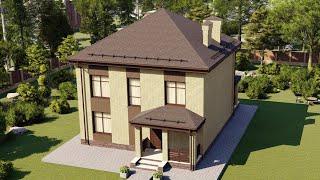 Проект дома 132-A, Площадь дома: 132 м2, Размер дома:  9,9x9,8 м
