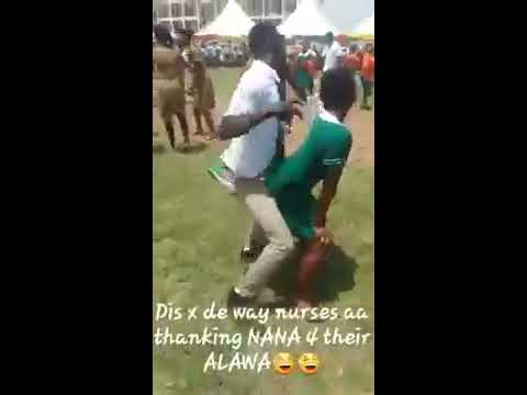 GHANA NURSES DANCE ONE CORNER
