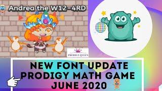PRODIGY MATH GAME | PRODIGY NEW FONTS UPDATE JUNE 2020!!!!