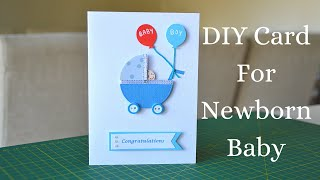 DIY Greeting Card for Newborn Baby | Baby Congratulations Card | Step by Step Tutorial 2