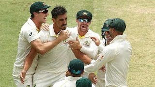 Speedster Mitchell Starc was pumped up after crashing through the defence of India opener Murali Vijay to give the Aussies the perfect start on day two in Perth