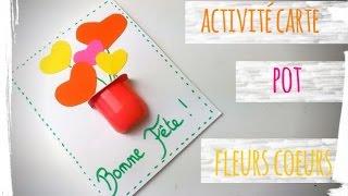 Carte pot de fleurs