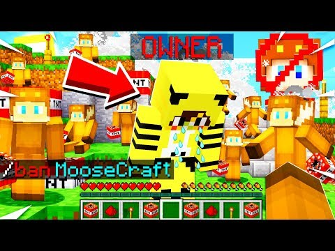 I Had 200 MINECRAFT PLAYERS Help Me BLOW UP The MOOSE HATER SERVER!