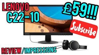 "£59 Lenovo C22-10 | 21.5"" 1080p | 60hz | HDMI Monitor Review Impressions - PC WORLD UK"