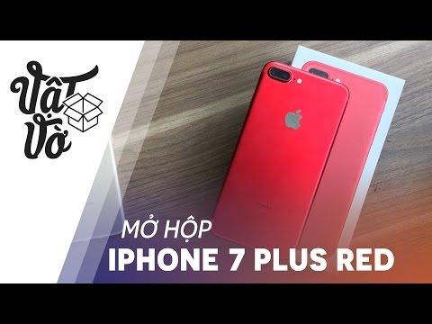 Vật Vờ  Mở hộp iPhone 7 Plus đỏ: trên ảnh đẹp hơn