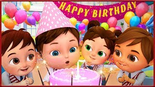 Happy Birthday Song Party After Back To school - Banana Cartoon