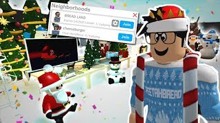 THE NEW BLOXBURG CHRISTMAS UPDATE! PRIVATE SERVERS, SLEDDING AND MORE!