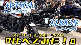 「XG750A ストリートロッド」と 「XL883N アイアン883」を『比べてみた!』