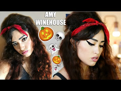 AMY WINEHOUSE |MAQUILLAJE Y PEINADO DE HALLOWEEN | MICH