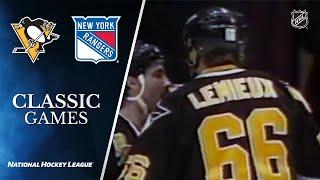 NHL Classic Games: Mario Lemieux scores 5 at the Garden
