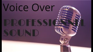 American Male Voice Over Offer