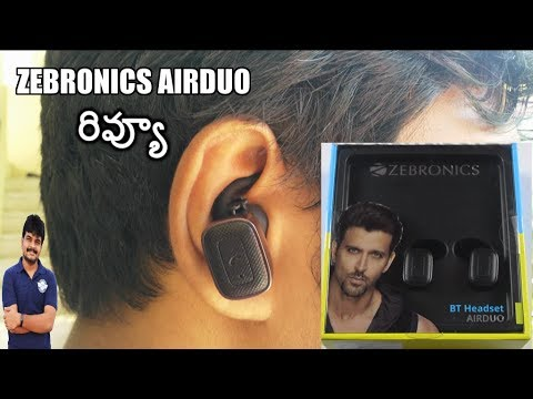 Zebronics AirDuo Bluetooth Headset Review ll in telugu ll