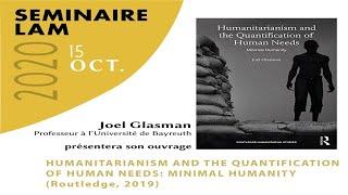 Séminaire LAM du 15/10/2020 : rencontre avec Joël Glasman