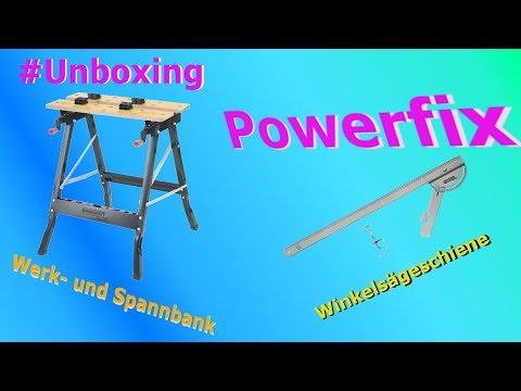 #001 Unboxing Powerfix Werk- und Spanntisch  +  Winkelsägeschiene