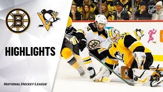 NHL Highlights | Bruins @ Penguins 01/19/20