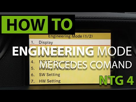 HOW TO: Access Hidden Engineering Menu - Mercedes COMAND NTG 4.0