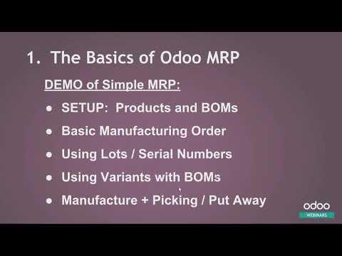 odoo Version V12  - MRP - Manufacturing Reinvented (2019)