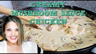 Easy Creamy Mushroom Sauce Chicken | Creamy Chicken Recipe | Simply Mama Cooks
