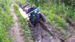 Мини джип Виллис. Путь на плотину  Mini jeep military