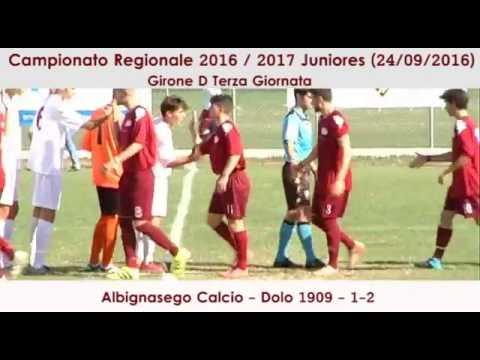 Preview video ALBIGNASEGO-DOLO 1909 1-2 (Juniores Reg.li 24.09.2016)