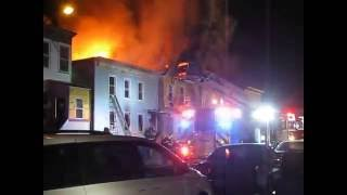 preview picture of video 'Multiple Alarm Fire, Hudson NY, Feb 28, 2015 (2/2)'