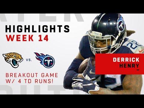 Derrick Henry's HUGE Game w/ 4 TDs & 238 Rushing Yards!!!