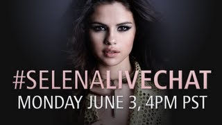 #selenalivechat -- Monday June 3, 4pm PT!