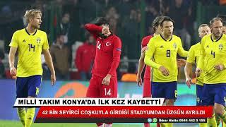 Milli takım Konya'da ilk kez kaybetti