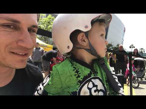 Theo's first Strider Bike Race! | Dude Dad