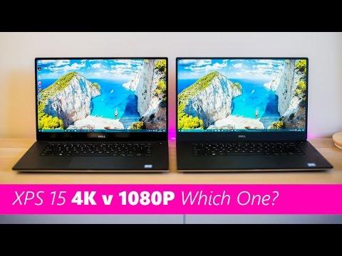 Dell XPS 15 4k v FHD Screen Comparison