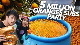 5 MILLION SUBS ORANGE PARTY!! | Ranz and Niana