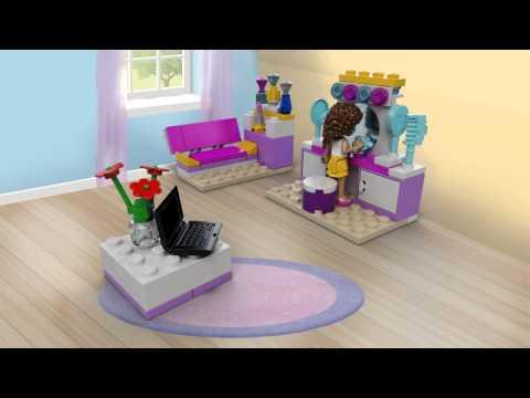 Vidéo LEGO Friends 41009 : La chambre d'Andréa