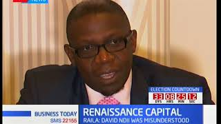 Renaissance capital: Stability pegged on Kenya's politics