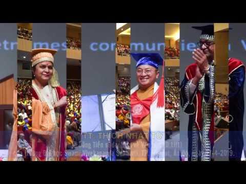 Thầy Nhật Từ nhận bằng TS danh dự về Văn học tại Ấn Độ, ngày 27-04-2019