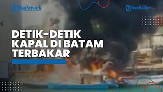 Diduga karena Puntung Rokok, 4 Kapal di Bea dan Cukai Batam Ludes Terbakar