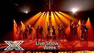 The Contestants sing Fleur East's Sax | Results Show | The X Factor UK 2016