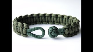 How To Make A Clean Diamond Knot And Loop Cobra Paracord Survival Bracelet-Hidden Melting Points
