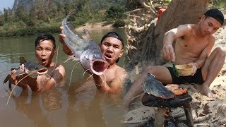 ลงแม่น้ำ เอาตัวรอดหาตกปลายักษ์ 1 วัน โคตรอันตราย !!!