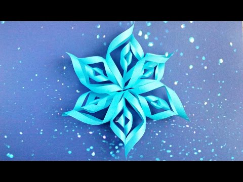 Download Modular 3d origami snowflake tutorial easy instructions. New year christmas diy 3d  paper snowflakes HD Video