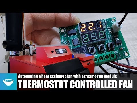 Automated Thermostat Control of a Heat Exchange Fan