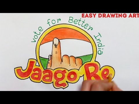how to draw vote for better india poster drawing