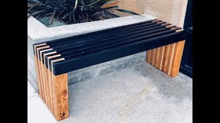 DIY A Sleek Slatted Bench With Ease
