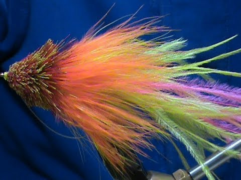 Fly tying video: Fire Tiger Angus Musky Fly